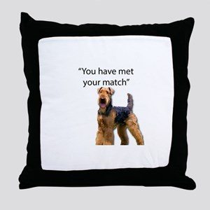 Airedale Terrier Says You've Met Your Throw Pillow