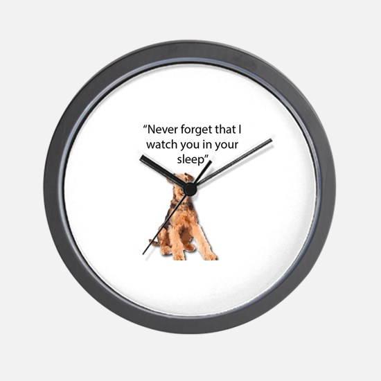 Airedales Watch you in your sleep Wall Clock