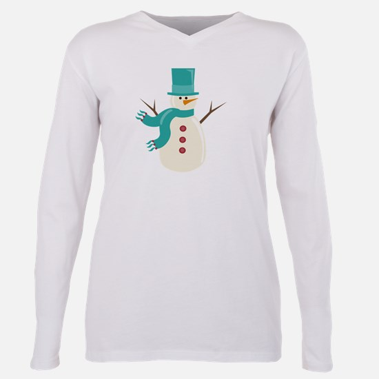 Snowman Plus Size Long Sleeve Tee