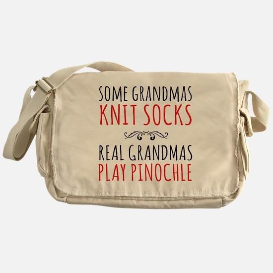 Real Grandmas Play Pinochle Messenger Bag