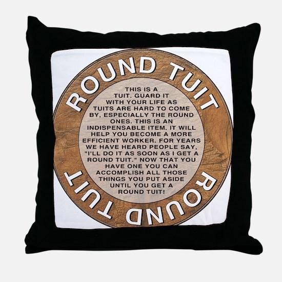 roundtuit.png Throw Pillow