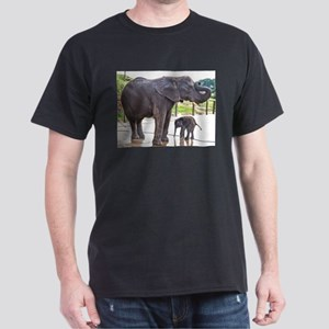 BATH TIME FOR BABY ELEPHANT AND MOTHER T-Shirt