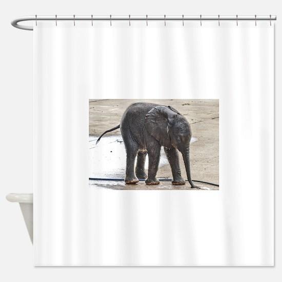 BABY ELEPHANT BATH TIME Shower Curtain