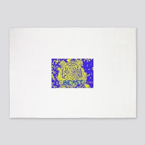 Tiger (purple) 5'x7'Area Rug