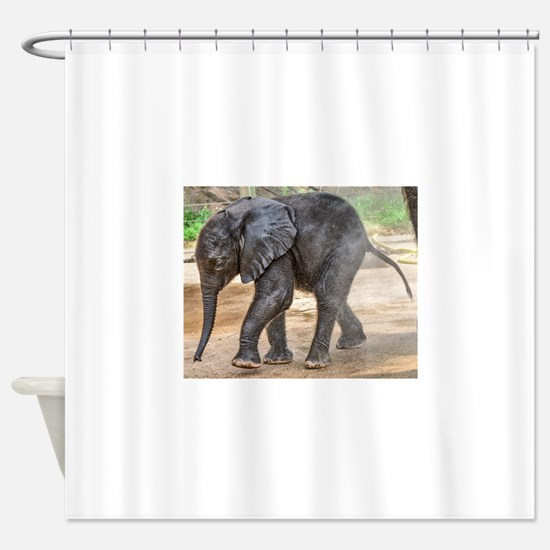 Cute Elephant mother and baby Shower Curtain