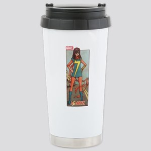 Ms Marvel Standing Stainless Steel Travel Mug