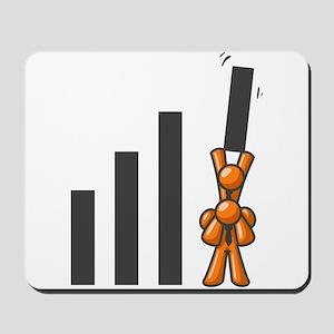 Orange Men Teamwork Mousepad
