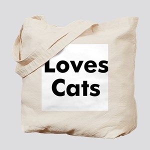 Loves Cats Tote Bag