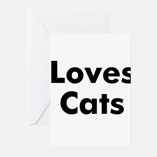 Loves Cats Greeting Cards (Pk of 10)