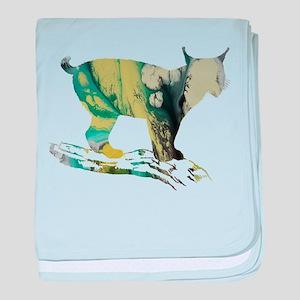 Lynx baby blanket