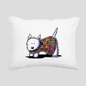 KiniArt Westie In Coat Rectangular Canvas Pillow