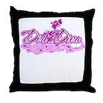 DirtDivaPink Throw Pillow