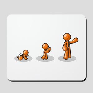 Orange Man Age Progression Mousepad