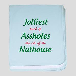 Jolliest Assholes baby blanket