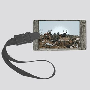 Wood wall bucks 15 Large Luggage Tag
