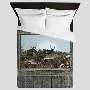 Wood wall bucks 15 Queen Duvet