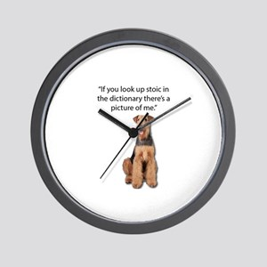 Stoic Airedales Epitome of the Term Wall Clock