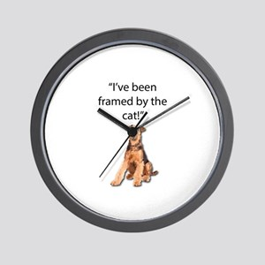 Airedale Terrier Swears He was Framed B Wall Clock