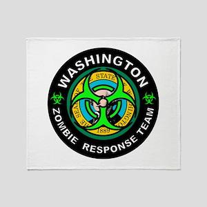 WA ZRT Green Throw Blanket