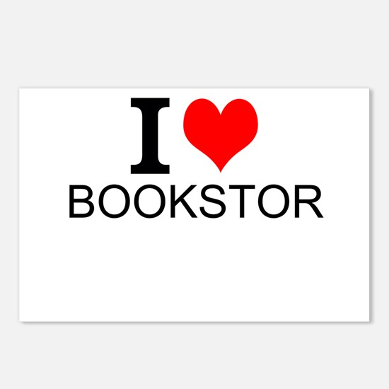 I Love Bookstores Postcards (Package of 8)