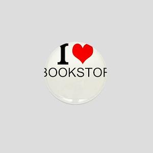 I Love Bookstores Mini Button