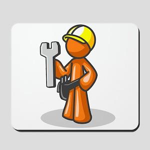 Orange Man Construction Worke Mousepad