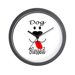 Dog Blessed Wall Clock