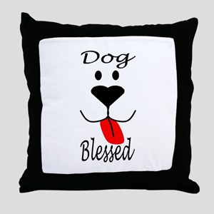 Dog Blessed Throw Pillow
