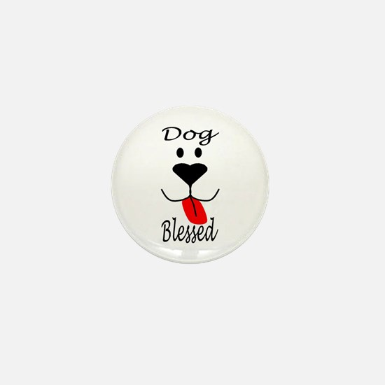 Dog Blessed Mini Button