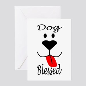 Dog Blessed Greeting Card