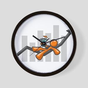 Orange Man Success Wall Clock