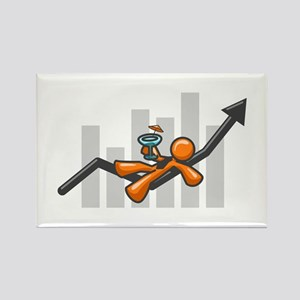 Orange Man Success Rectangle Magnet