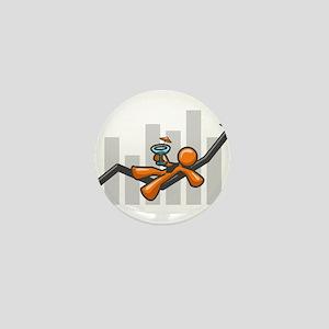 Orange Man Success Mini Button