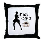 My Coffee Throw Pillow