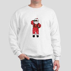 glitter black santa claus Sweatshirt