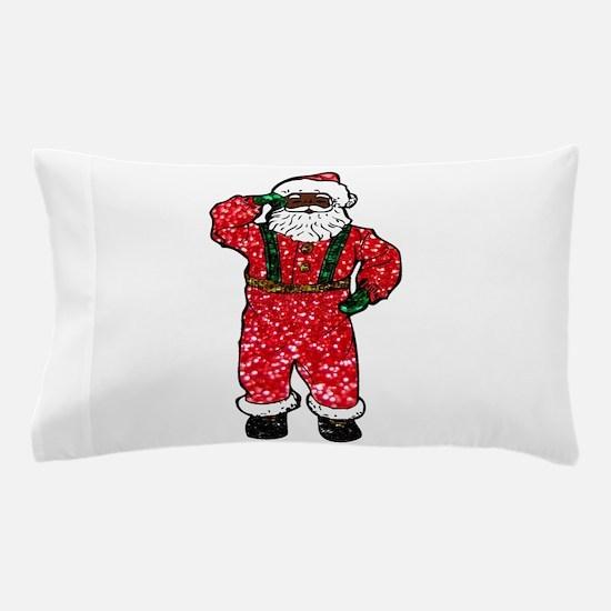glitter black santa claus Pillow Case
