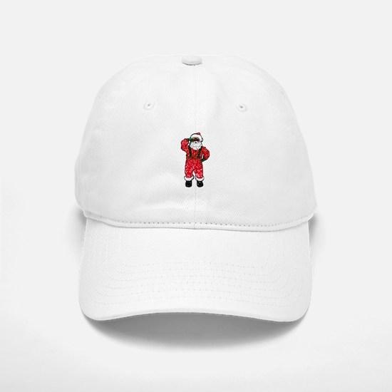 glitter black santa claus Baseball Baseball Cap