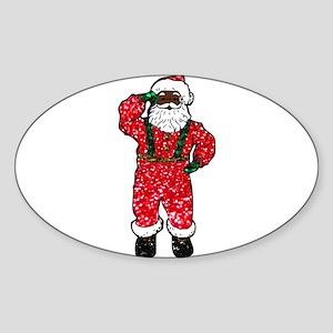 glitter black santa claus Sticker