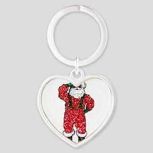 glitter black santa claus Keychains