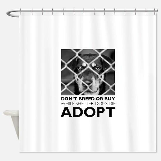 Shelter Dog Shower Curtain