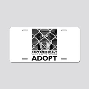 Shelter Dog Aluminum License Plate