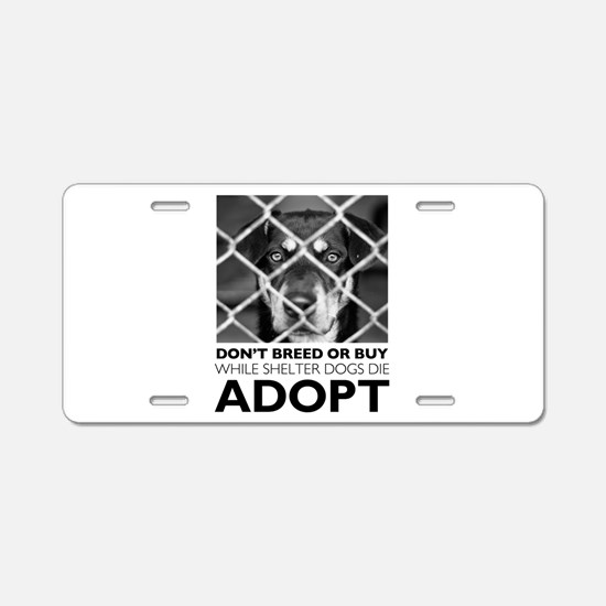 Shelter Dog Aluminum License Plate