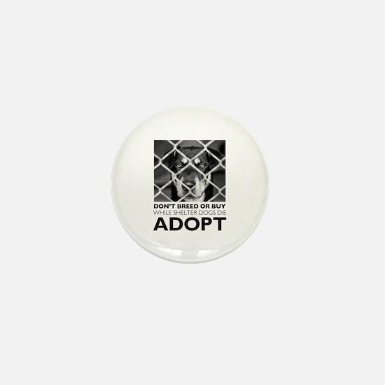 Shelter Dog Mini Button