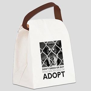 Shelter Dog Canvas Lunch Bag
