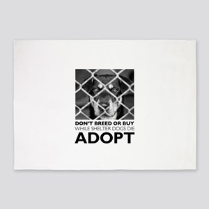 Shelter Dog 5'x7'Area Rug