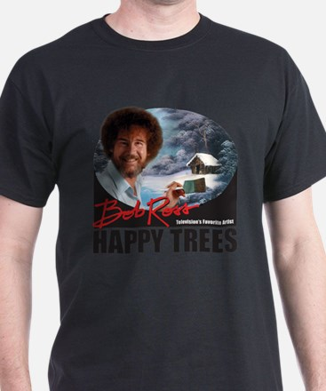 Unique Happy trees bob ross T-Shirt