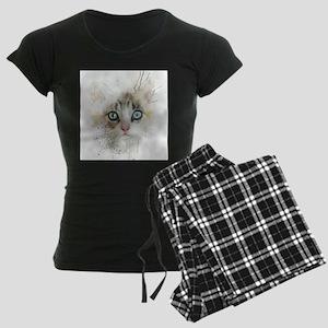Kitten Painting Pajamas