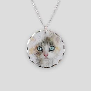 Kitten Painting Necklace