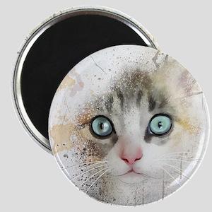 Kitten Painting Magnets