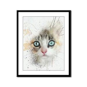 Kitten Painting Framed Panel Print